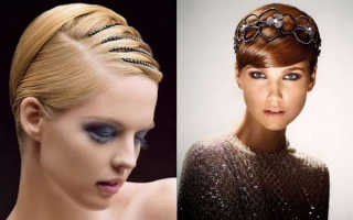 Праздничные прически на короткие волосы: вариант укладки