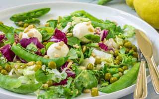 Салат с зеленым горошком: рецепты