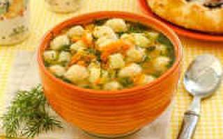 Суп с галушками: рецепт приготовления