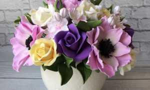 Кольцо из полимерной глины с цветком, мастер – класс с пошаговыми фото