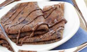 Блины шоколадные: рецепт приготовления
