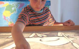 Рисование песком для детей – простор для детской фантазии