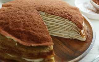 Блинный торт: рецепт приготовления