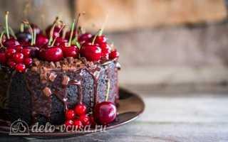 Шоколадный торт с вишней: побалуйте себя богатой палитрой вкуса