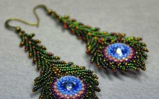 Плетение браслета и сережек из бисера, мастер – класс с фото, пошагово
