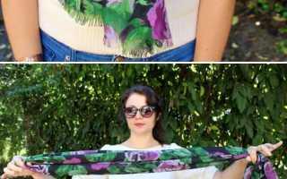 Как можно красиво завязать шарф