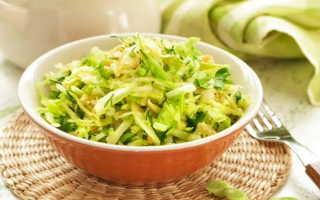 Салат из капусты с огурцом – рецепт приготовления
