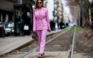 Брючные костюмы женские – 2020 года с модных показов