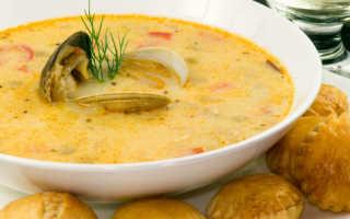 Суп крем из морепродуктов: рецепт