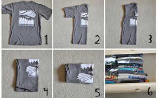 Как сложить футболку: быстро (за секунду), чтобы не помялась, правильно, красиво, детские