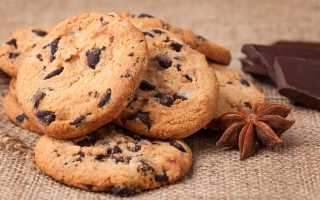 Печенье с шоколадной крошкой: способ приготовления
