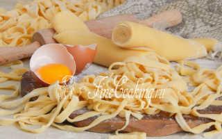 Лапша домашняя: рецепт приготовения
