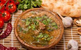 Суп харчо: рецепт приготовления
