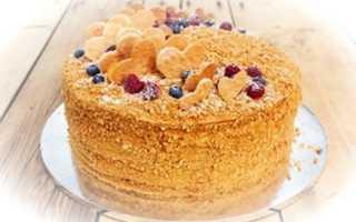 Медовый торт со сгущенкой: рецепт приготовления