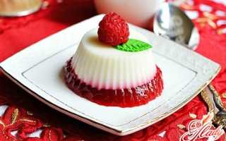 Молочное желе: рецепт любимого десерта