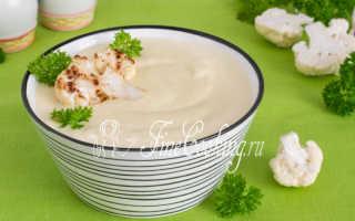 Крем-суп из цветной капусты: рецепт приготовления