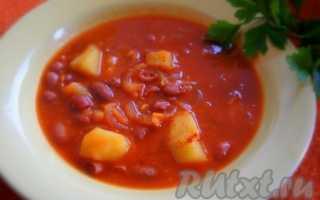 Суп из консервированной фасоли: рецепты