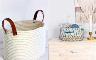 Как сплести корзину своими руками в домашних условиях