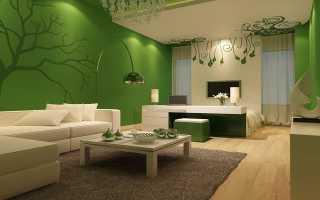 Сочетание зеленого цвета в интерьере – основные правила