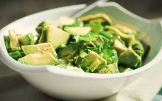 Салат с авокадо и огурцом: рецепт приготовления