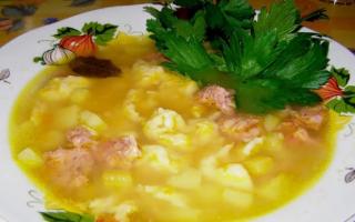 Суп с клецками – рецепт приготовления