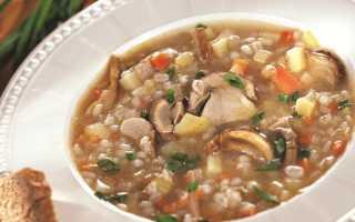 Грибной суп с перловкой: рецепт