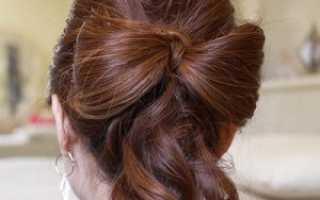 Стильная прическа – бант из волос