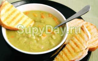 Гороховый суп без мяса – рецепт приготовления