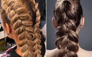 Как заплетать косы: французскую, простую, объемную, наоборот, с лентой, вокруг головы