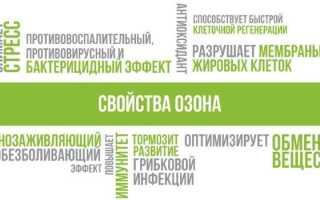 Озонотерапия: показания и противопоказания, внутривенное введение озона