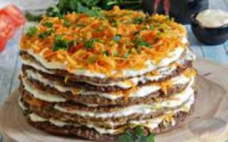 Торт из печени: рецепт приготовления
