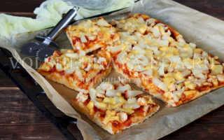 Гавайская пицца: рецепт приготовления