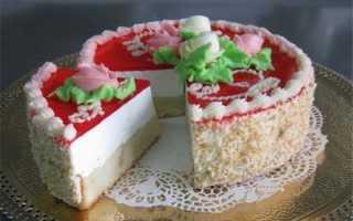 Торт желейный с бисквитом: нежная свежесть