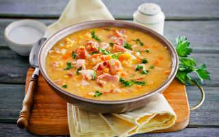 Гороховый суп с копченостями: рецепт приготовления