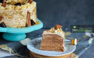 Блинный торт Крепвиль: изысканный рецепт