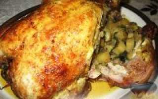 Курица, фаршированная в духовке целиком, – это вкусно