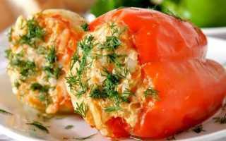 Перец болгарский фаршированный: рецепты и приготовление