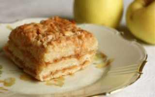 Пирог с яблоками и манкой: рецепт приготовления