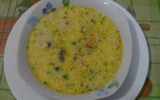 Сырный суп: рецепт приготовления