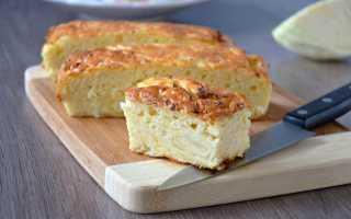 Пирог с капустой на кефире – быстро и вкусно