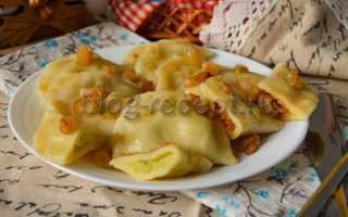Вареники с капустой: рецепты приготовления
