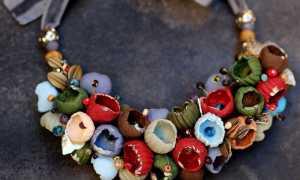 Красивые бусы из полимерной глины, мастер – класс с фото, пошагово