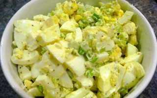 Салат из зеленого лука  – рецепт приготовления