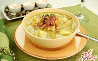 Суп гороховый с рулькой