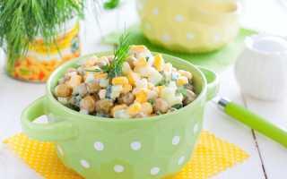Салат с кукурузой и зеленым горошком: рецепт приготовления