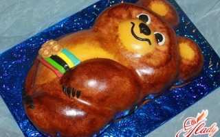 """Торт """"Олимпийский мишка"""": сладкая ностальгия"""