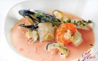 Сливочный суп с морепродуктами: рецепт экзотичного блюда