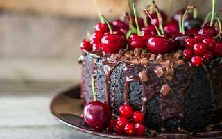 Торт пьяная вишня: рецепт приготовления
