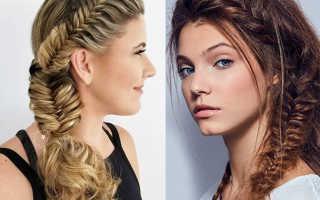 Прически с плетением на средние волосы: греческая коса, рыбий хвост, жгут