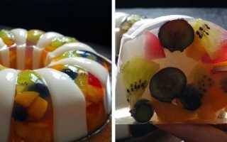 Желейный торт с фруктами: лучший летний десерт